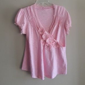 Pink Floral Summer Top INC International Concepts